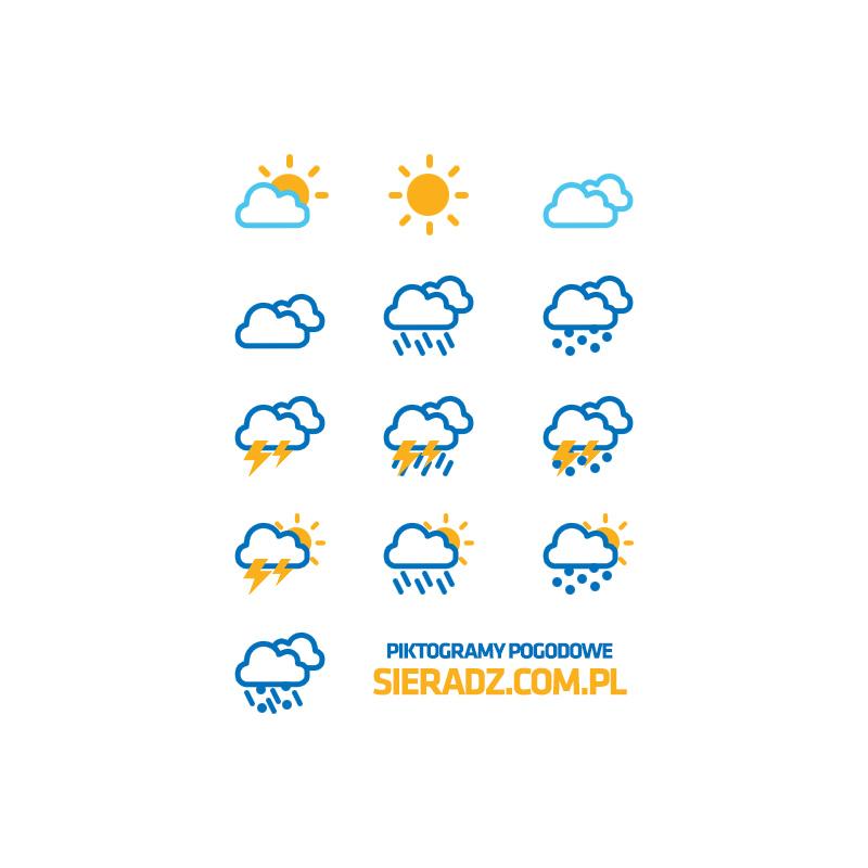 Projekt graficzny ikon pogodowych dla portalu internetowego