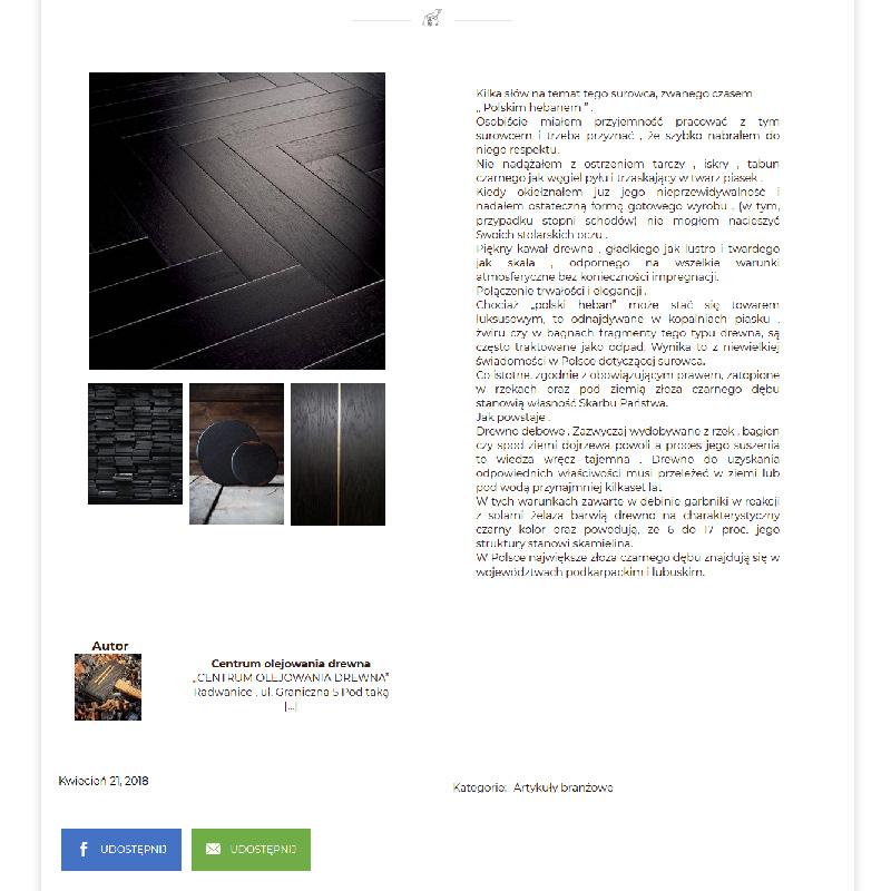 Projekt i wdrożenie portalu ogłoszeniowego z branży cyklinowania