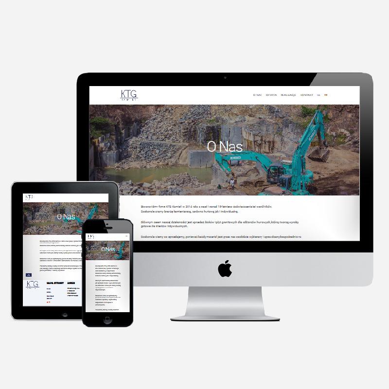 Wdrożenie strony internetowej importera kamienia egzotycznego na gotowym szablonie