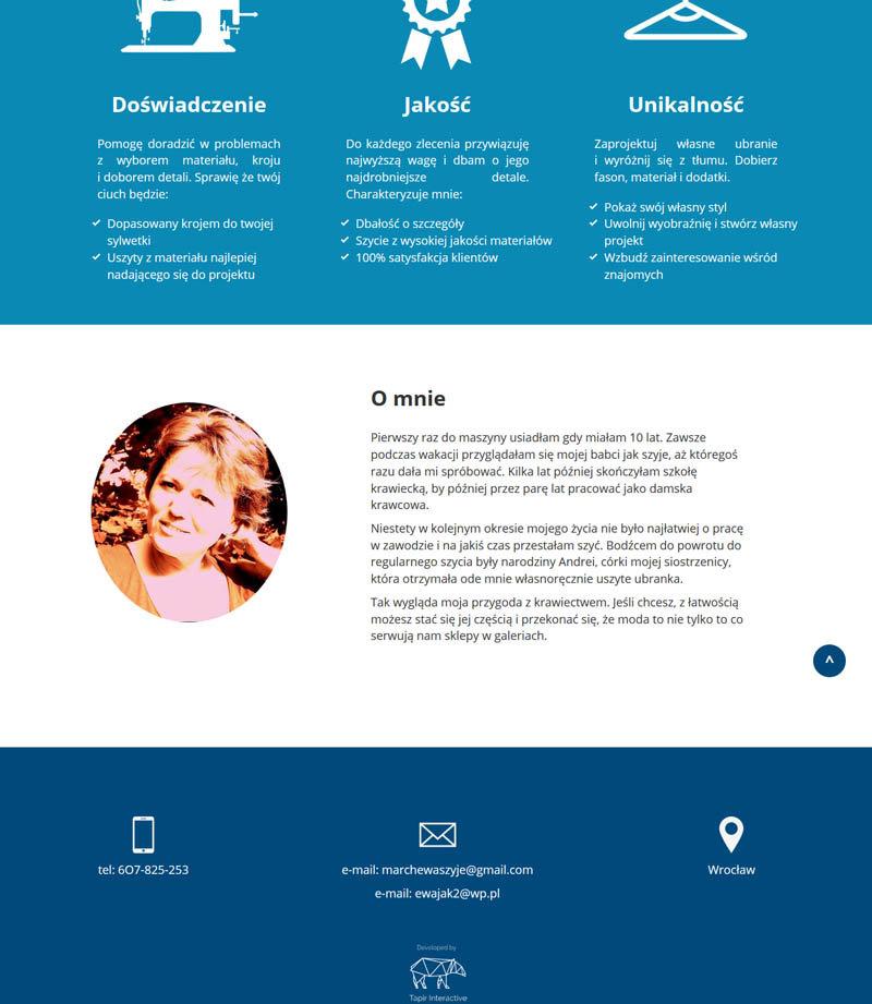 Projekt i wdrożenie strony internetowej pracowni handmade