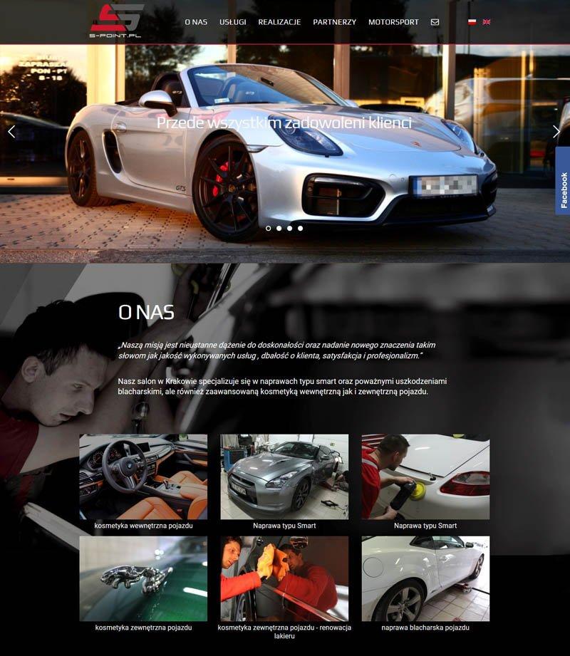 Wdrożenie strony internetowej car spa and repair na gotowym szablonie
