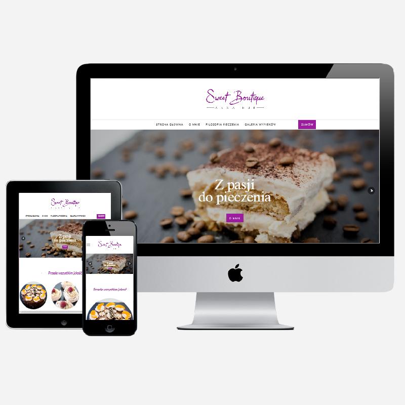 Wdrożenie strony portfolio cukierniczego na gotowym szablonie