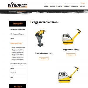 Wdrożenie strony internetowej wypożyczalni sprzętu budowlanego