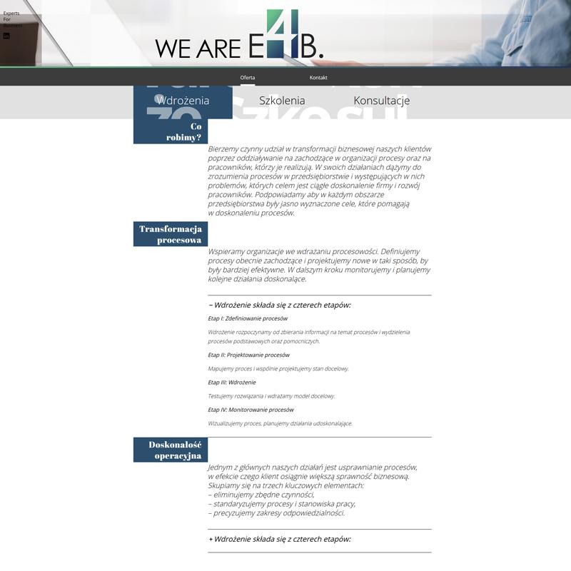 stworzenie strony internetowej