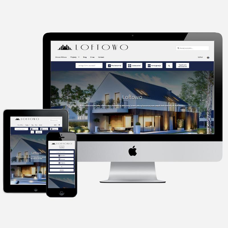 projekt sklepu internetowego z projektami architektonicznymi