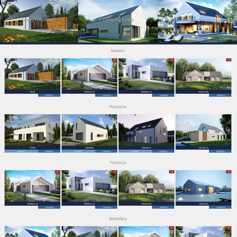 wdrożenie sklepu internetowego z projektami architektonicznymi