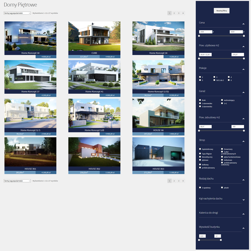 stworzenie sklepu internetowego z projektami architektonicznymi