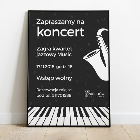 plakat imprezowy dla hotelowej restauracji