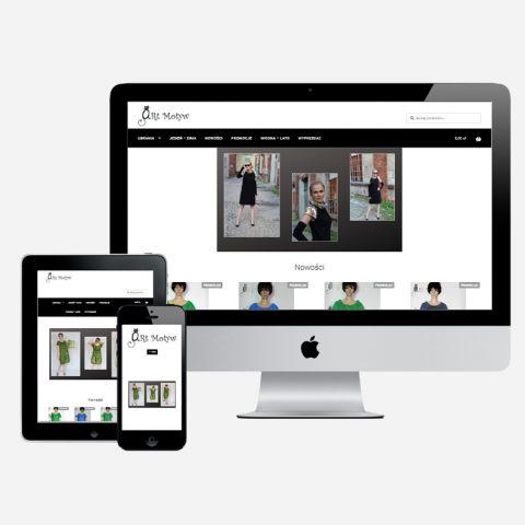 realizacja sklepu internetowego ekran komputera tablet telefon