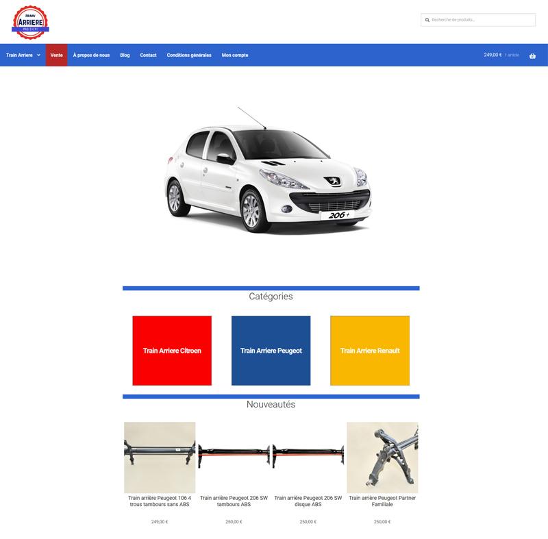 stworzenie sklepu z częściami samochodowymi